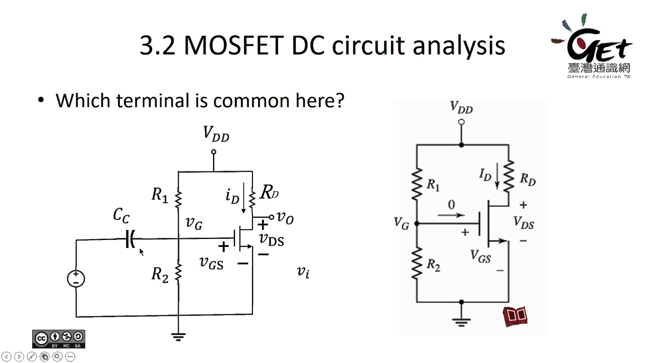 Lec 9-1 MOSFET DC circuit analysis: MOSFET DC circuit analysis / 朱士維老師