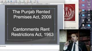 LBA Lectures: Zeeshan Malik AHC on Rent Laws