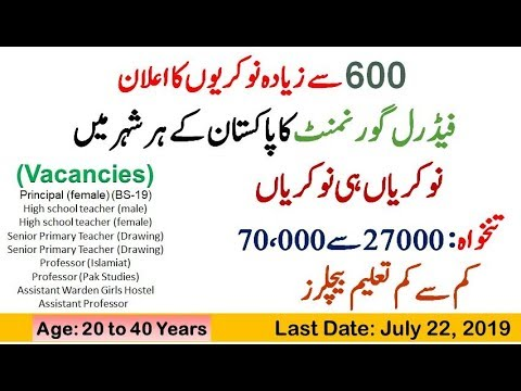 PPSC Lecturer Jobs 2019 For Male & Female(BS-17)| Online Apply - YouTube