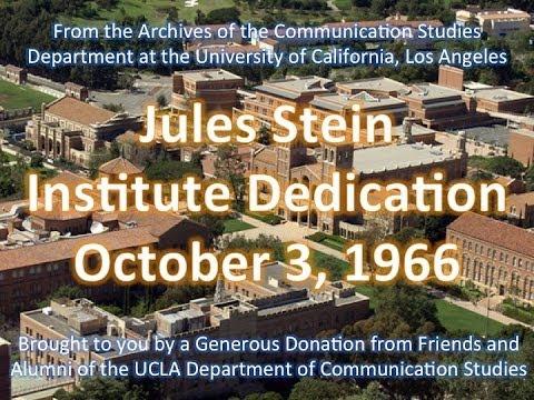 Jules Stein Institute Dedication at UCLA 10/3/1966