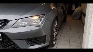 Seat Leon Cupra wrapping without cutter / Car porn