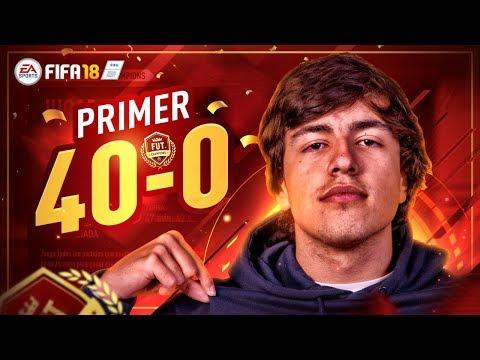 MI PRIMER 40-0 EN FUT CHAMPIONS EN FIFA 18!!