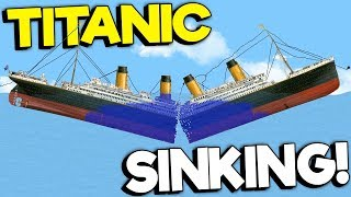 SINKING THE TITANIC WITH A SAW! - Floating Sandbox Simulator Gameplay