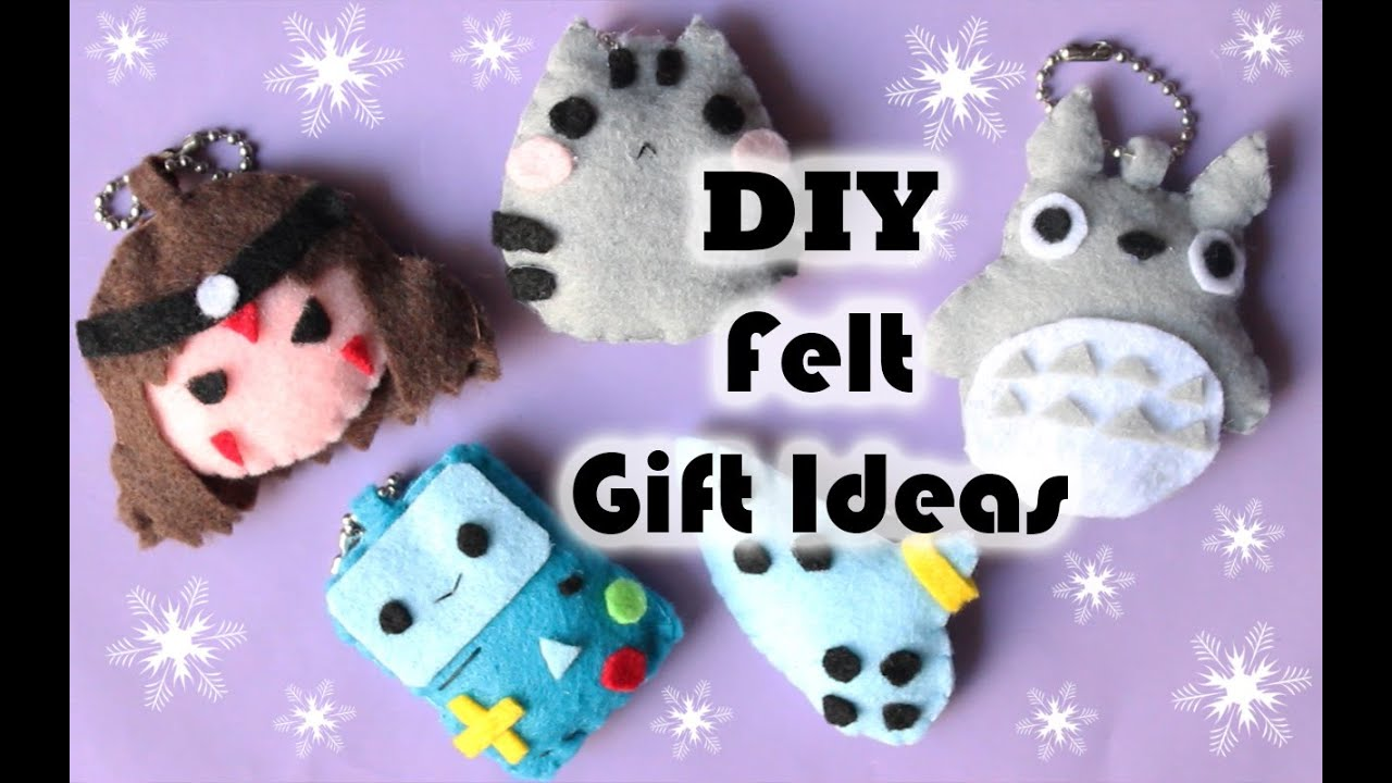 Felt Craft Ideas For Christmas Part - 48: DIY CHRISTMAS FELT GIFT IDEAS ?