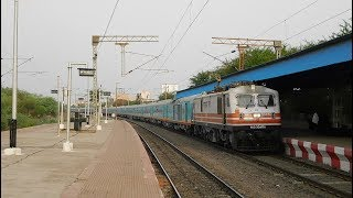 First Regular Run of Brand New Train | Indore - Puri Humsafar Express | Skips Bhilai Power House