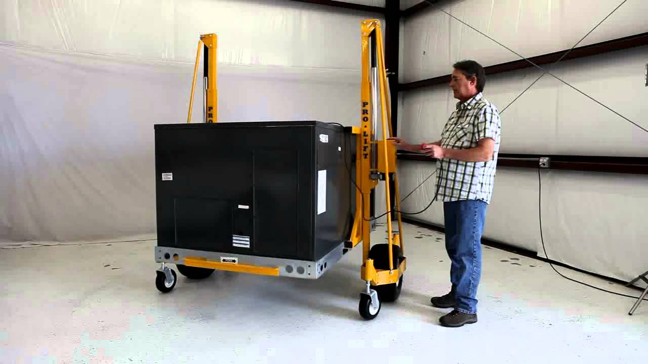 Pro Lift How To Easily Move Commercial Hvac Units Across