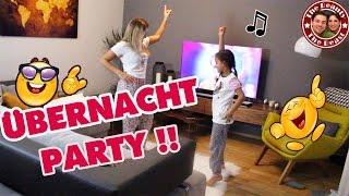 ÜBERNACHT PARTY MIT MILEY - wir tanzen die ganze Nacht! Mega viel Spaß! | daily VLOG TBATB