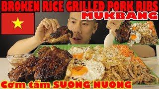 [MUKBANG] VIETNAMESE Cơm tấm SUONG NUONG-BROKEN RICE WITH PORK RIBS-SAVAGE EATING