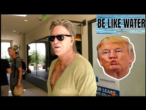 Mickey Rourke criticizes Donald Trump about his administration