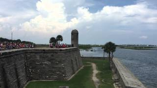 6 pounder cannon fired castillo de san marcos national monument st augustine florida