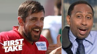 'Aaron Rodgers and cheese' are the only relevant things in Green Bay - Stephen A. | First Take