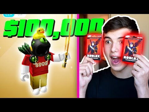 BUYING A DOMINUS with ROBUX GIFT CARDS .. (ROBLOX)