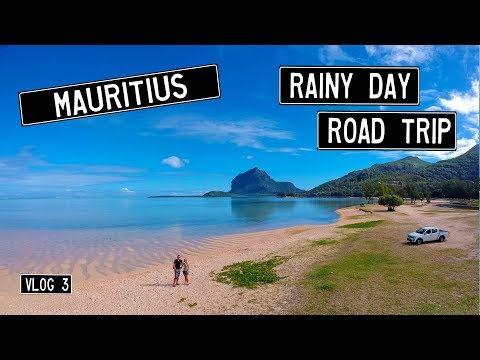 Mauritius road trip on a rainy day.