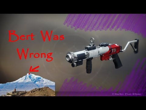 Destiny 2- The Mountaintop! Bert was wrong :)