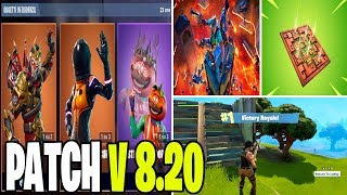 NEW PATCH UPDATE 8.20 FORTNITE SHOP 27 MARS SKIN AVANGUARDIA OSCURA