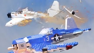 1944 Lego World War Two Air Battle Over the Pacific: F4U Corsair vs. A6M Zero