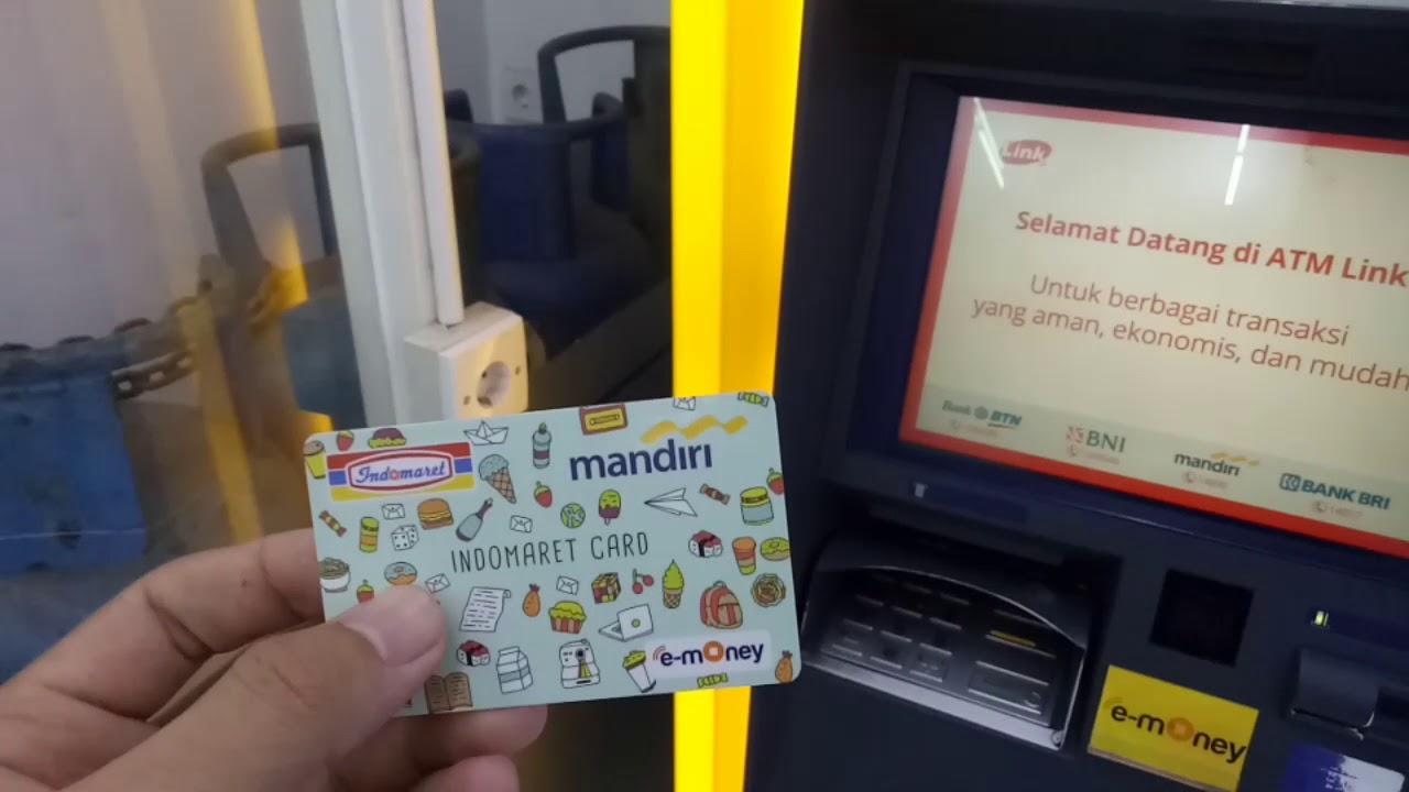 Cara Cek Saldo E Money Mandiri Indomaret Card Youtube