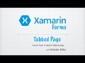 Xamarin Forms Tutorials 4 : TabbedPage