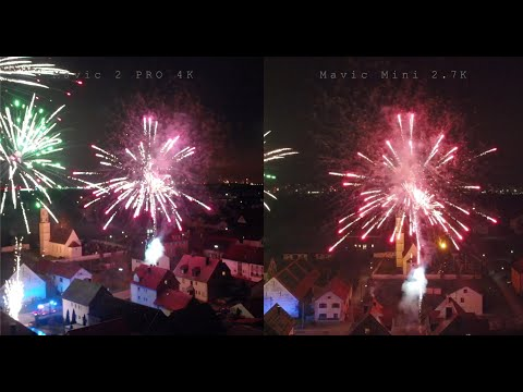 DJI Mavic 2 Pro 4k Vs Mavic Mini 2.7k -- Firework / Feuerwerk