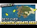 Minecraft - BEST AQUATIC SURVIVAL SEED EVER [ Seed Showcase] MCPE / Xbox / Bedrock