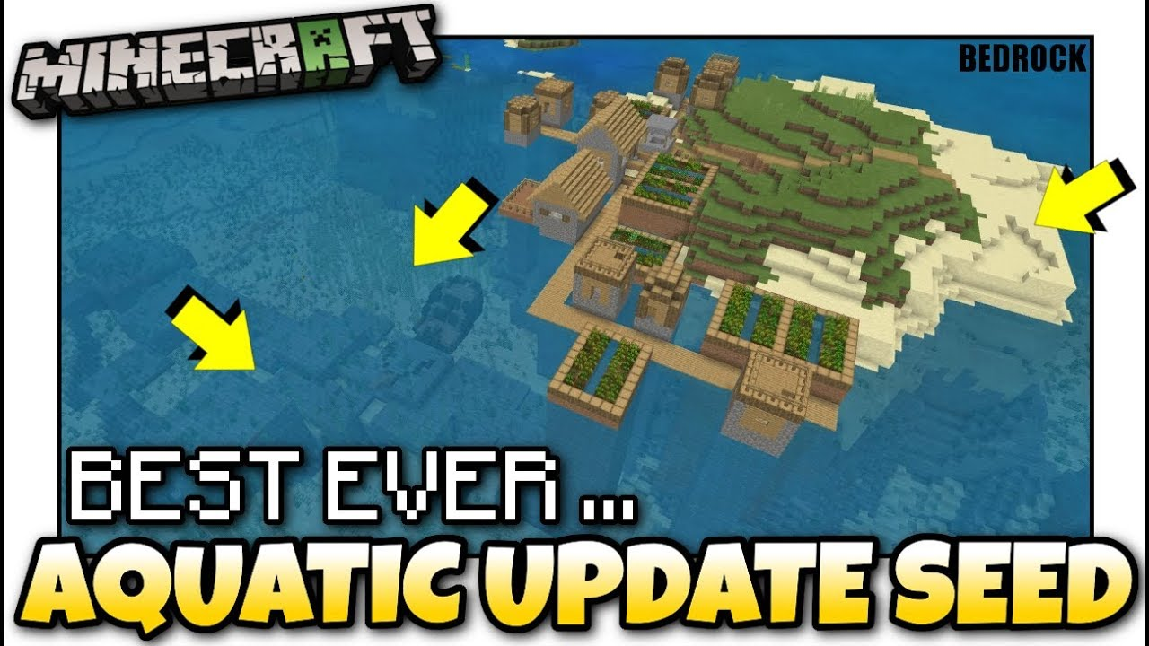 Minecraft Best Aquatic Survival Seed Ever Seed Showcase Mcpe Xbox Bedrock Youtube