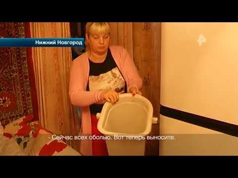 В Нижнем Новгороде неадекватная дама окатила судебных приставов ведром с фекалиями