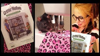 Sewing For Your Pet Rats | Critter Nation Double Unit Rat Cage | How To Make A Ramp Cover | Fashion