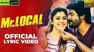 Mr.Local - Takkunu Takkunu Lyric Video | Reaction | Sivakarthikeyan, Nayanthara | Hiphop Tamizha