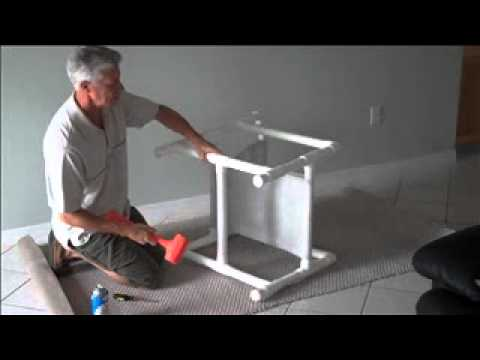 sling chair outdoor teal leather how to remove a fabric from pvc - youtube