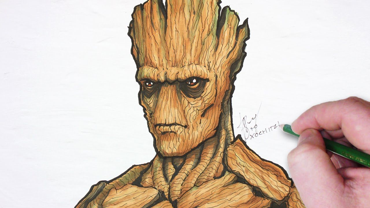 Let's Draw Groot! - YouTube