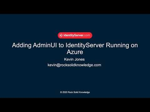 How to install IdentityServer's AdminUI in an Azure App Service