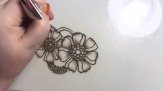 Flowers and Paisley Henna Design