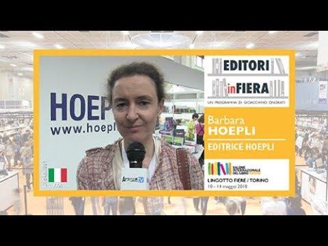 EDITRICE HOEPLI. Barbara HOEPLI. Salone del Libro di Torino 2018.
