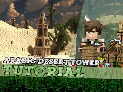 Minecraft Tutorial: Tall Arabic Desert Temple Tower!
