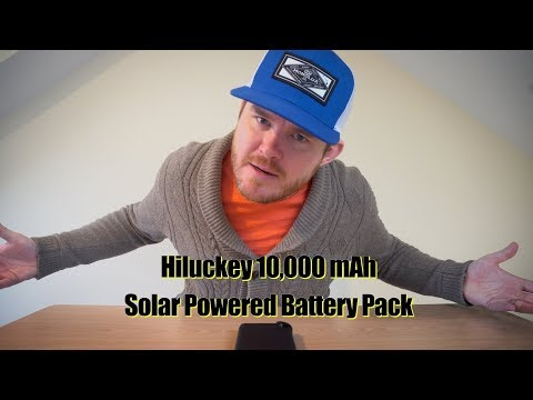Charge your stuff with the power of the SUN?  - Hiluckey Solar Battery Pack