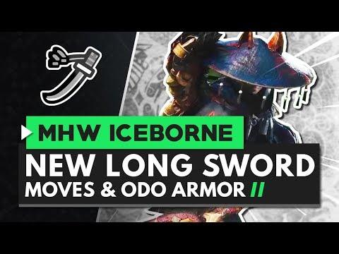 Monster Hunter World Iceborne | New Long Sword Moves, Gameplay & Odogaron Master Rank Armor