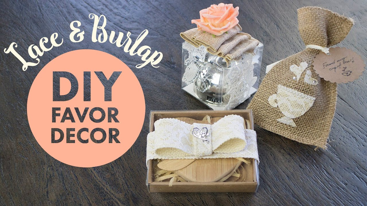 Burlap And Lace Favor Decorations Balsacircle Youtube
