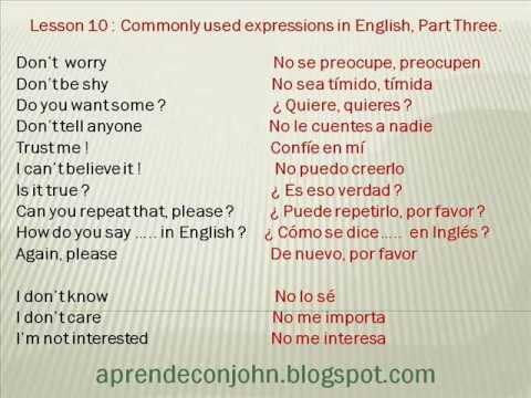 Frases Cotidianas En Inglés Parte 3