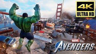 [4K] AVENGERS: A-Day - Full PS4 Demo Gameplay Walkthrough (2020) @ ᵁᴴᴰ ✔