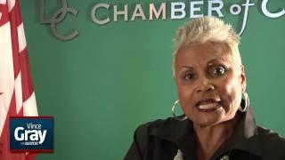 DC Chamber President Barbara Lang endorses Vince Gray