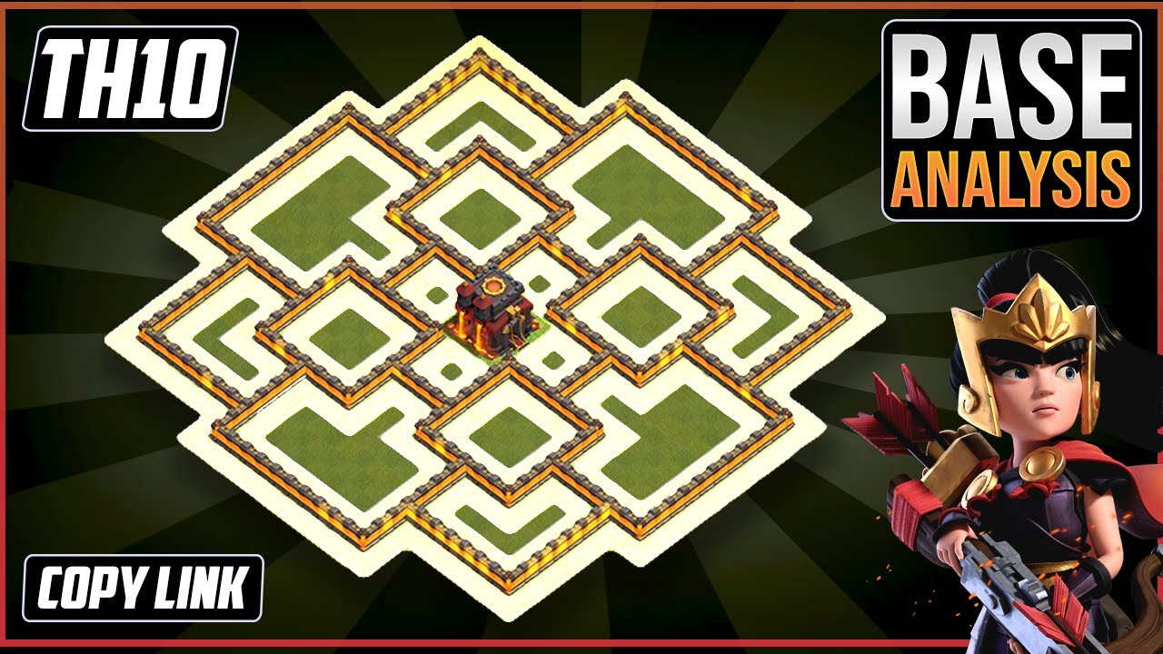 THE BEST TH10 HYBRID/TROPHY Base 2021!! COC Town Hall 10 (TH10) Trophy Base Design - Clash of Clans