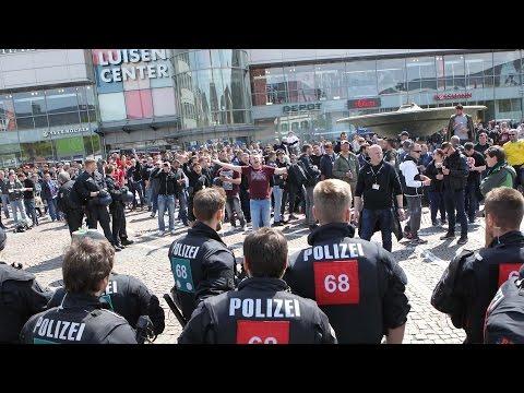 1700 Polizisten sichern Hessenderby: Ausnahmezustand in Darmstadt