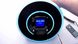 monster tron legacy light disc audio dock for apple ipod iphone review
