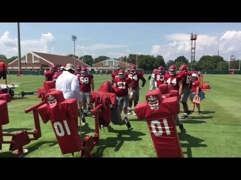 Up close with Alabama defensive linemen Da