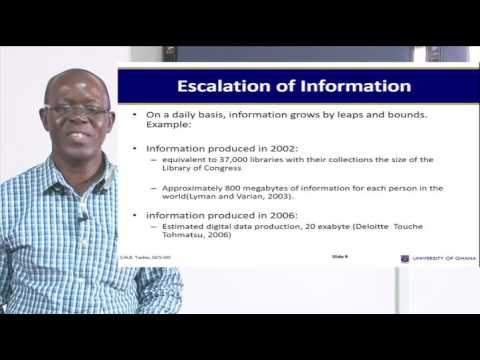 INFS 111: SESSION 1- THE IMPACT OF INFORMATION IN SOCIETY