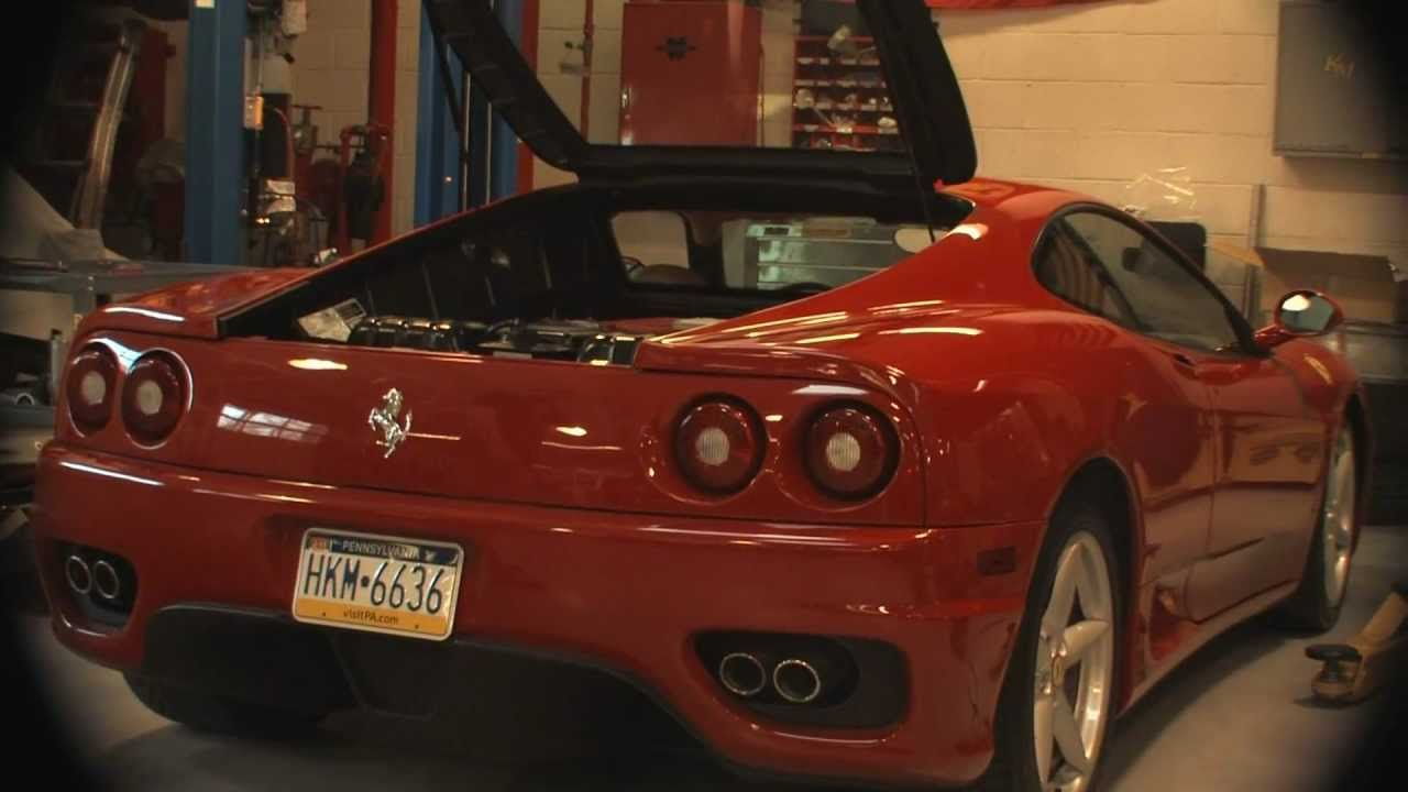 Ferrari 360 with Fabspeed Maxflo Muffler and Quad 90mm Tips
