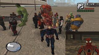 GTA San Andreas Avengers Infinity War skins