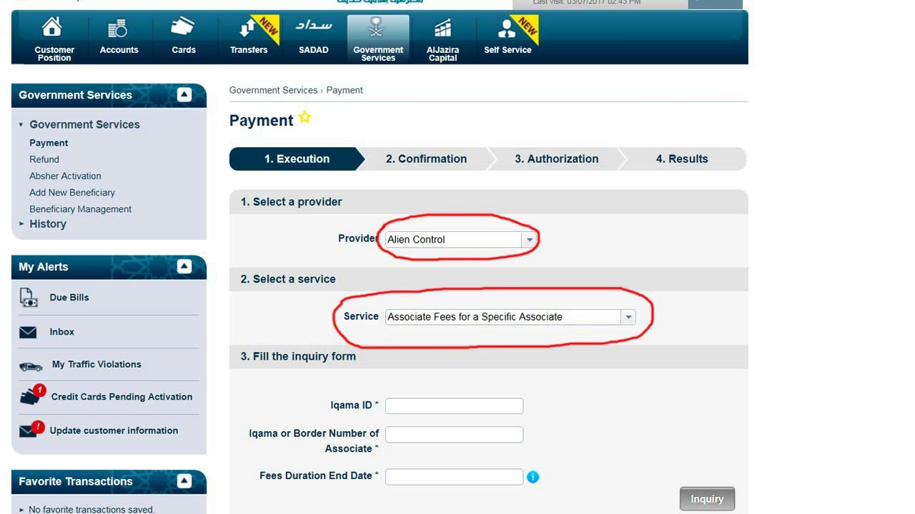 How to check and pay dependent's fee in ksa