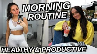 HEALTHY AND PRODUCTIVE MORNING ROUTINE 2018 | Kenzie Elizabeth