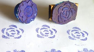Cutart Tutorial : Make block prints and stamps with M Seal and Stencils